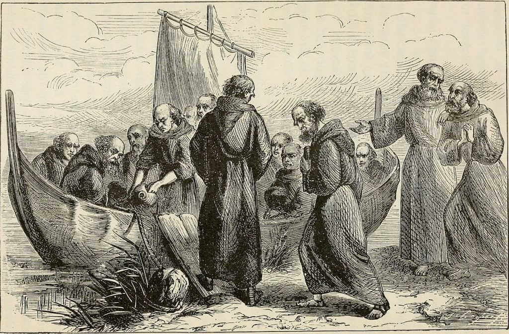St. Brendan and his monks